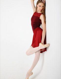 Bailarina Linda Pelada em Poses Perfeitas