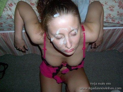 Novinhas Levando Gozada na Cara