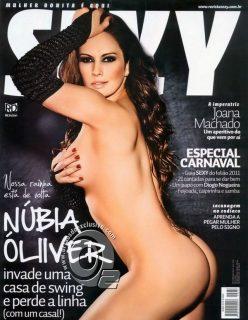 Nubia Oliver Nua Pelada na Revista Sexy