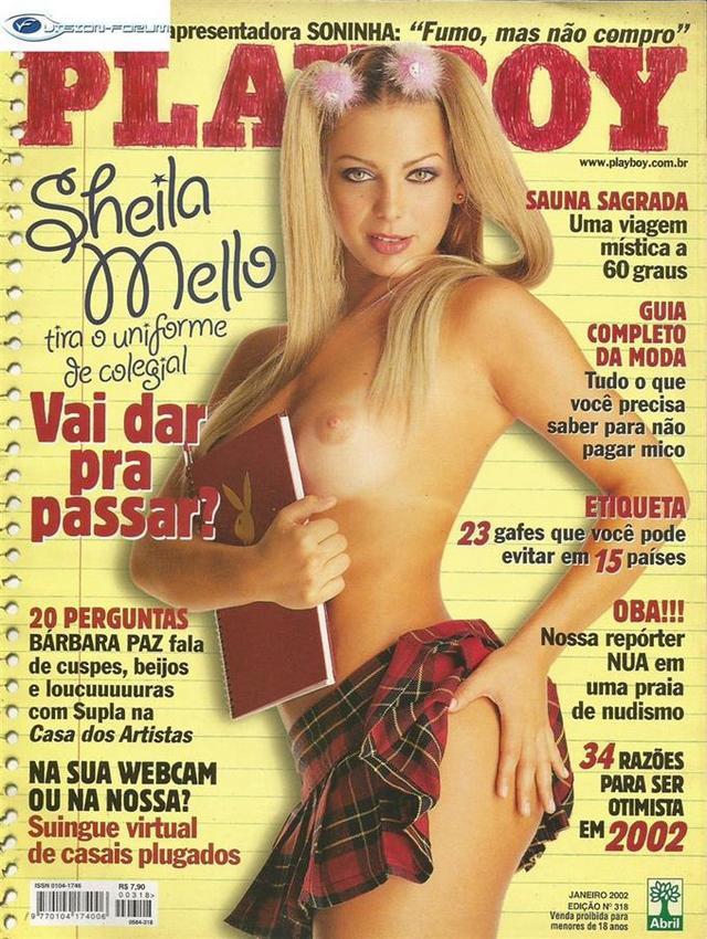 Sheila Mello Nua Pelada na Revista Playboy