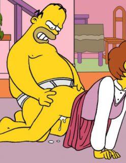 Homer Fodendo a Mulher do Flanders – Hentai
