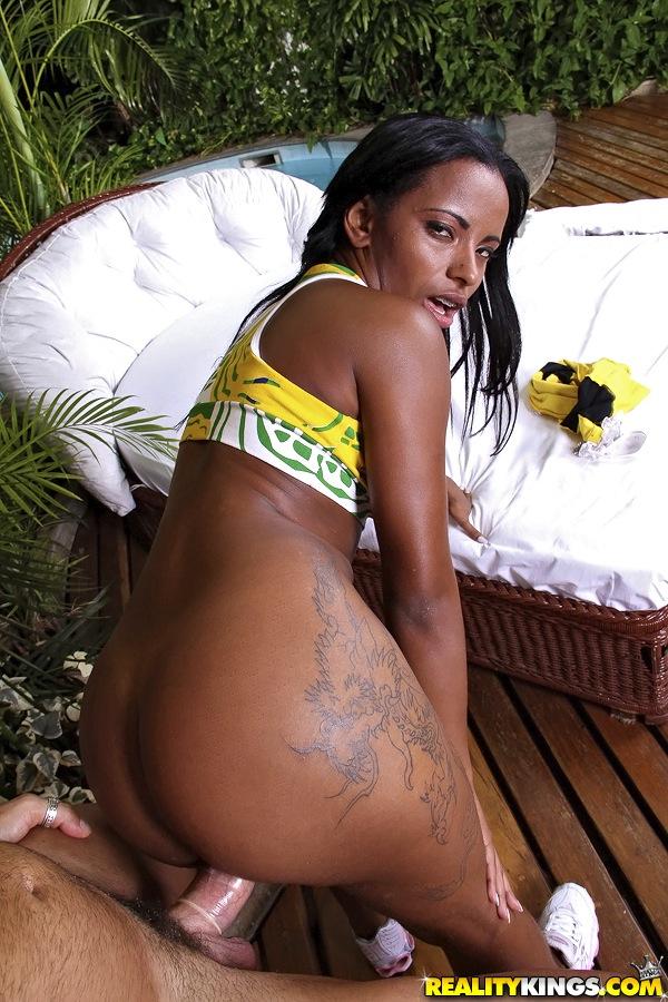 Fotos de Negra Brasileira Dando o Cuzinho